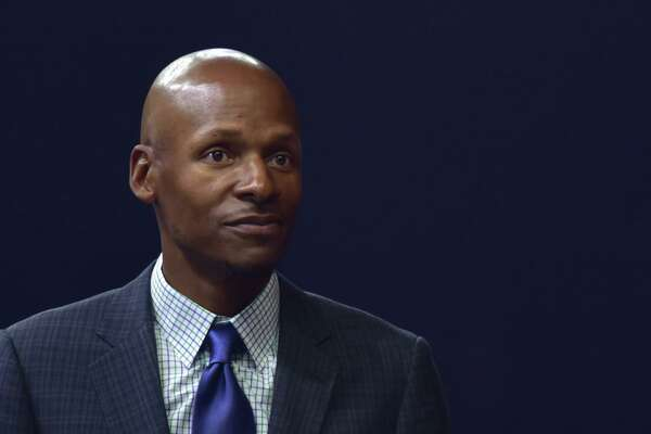 Former UConn and NBA star Ray Allen attends the finals of University Cyber League on May 6, 2018 in Suzhou, China.
