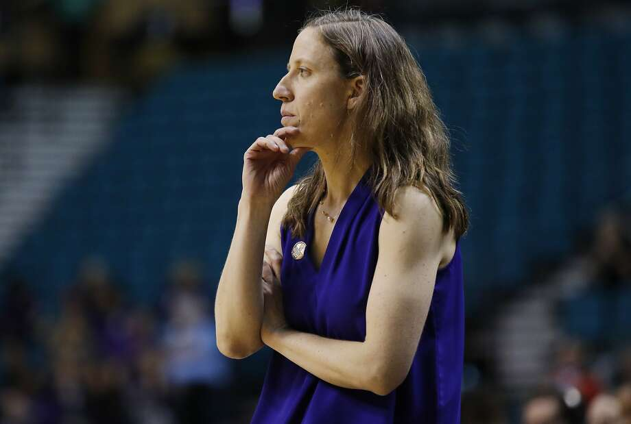 California coach Lindsay Gottlieb watches the team play Washington State during the second half of an NCAA college basketball game at the Pac-12 women's tournament Thursday, March 7, 2019, in Las Vegas. (AP Photo/John Locher) Photo: John Locher / AP