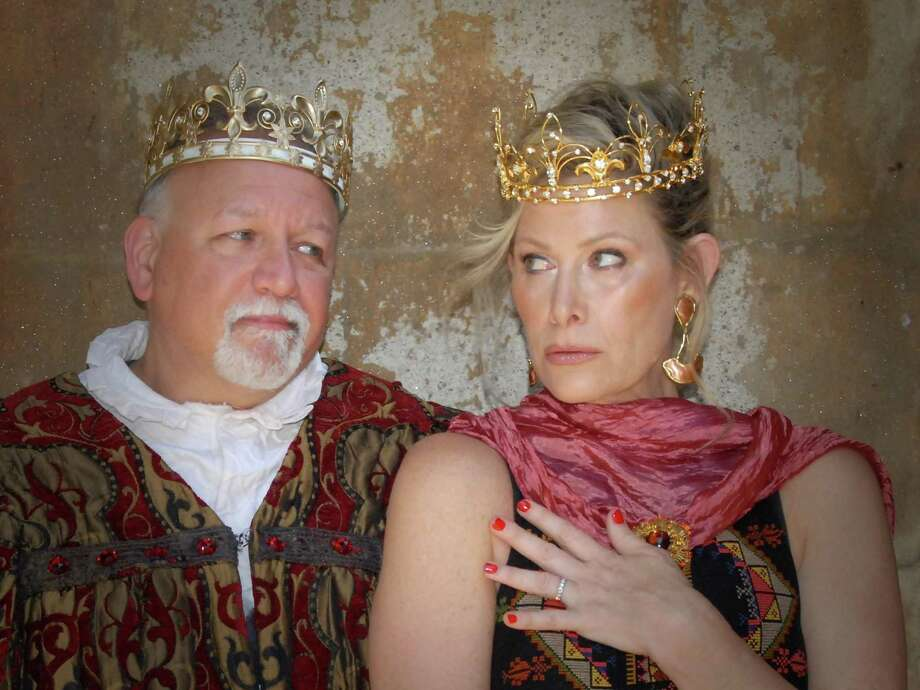 "Stamford Resident and Broadway veteran Frank Mastrone plays Charlemagne and award winning actress and Weston Resident Jodi Stevens portrays Fastrada in ""Pippin"" at The Summer Theatre of New Canaan July 5-28. Photo: Summer Theatre / Contributed Photo"