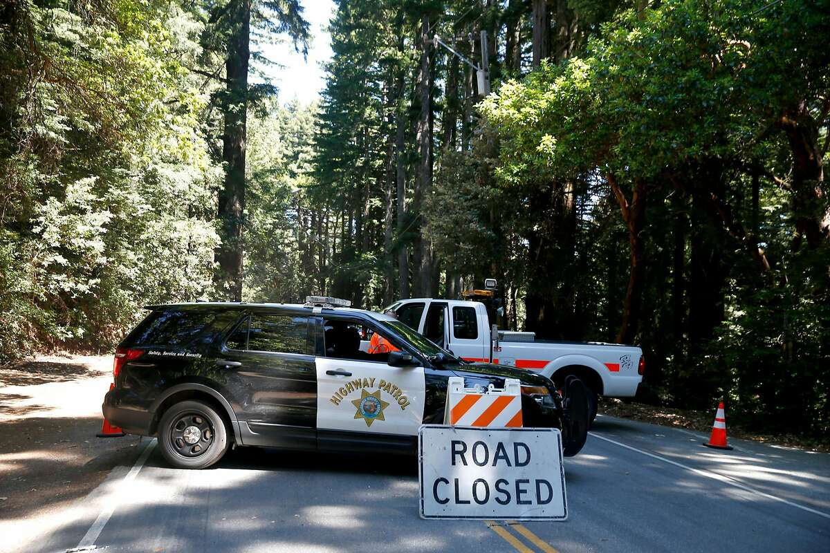 Skyline Boulevard is closed between Reids Roost and Swett roads west of Woodside for an investigation of fatal stabbings on two consecutive nights.