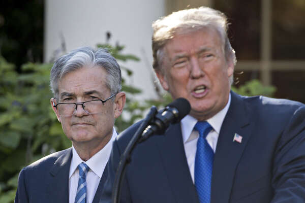 President Donald Trump and Jerome Powell at the White House on Nov. 2, 2017, as Trump announces Powell's nomination to serve as chairman of the Federal Reserve.