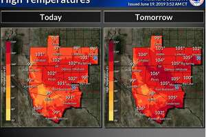 It only gets hotter the next couple of days as highs top 100 degrees across most of the area