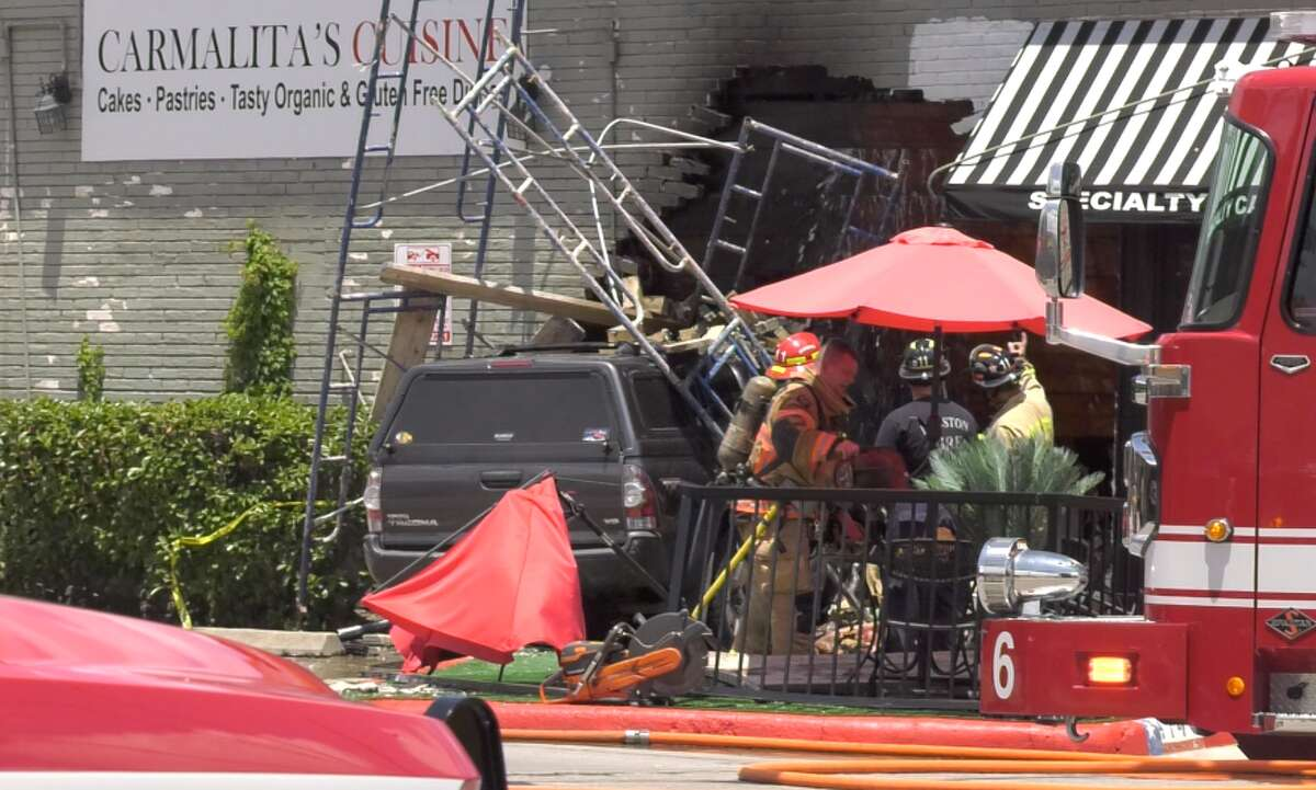 A car reportedly crashed into the side of a Heights restaurant on Wednesday, June 19.