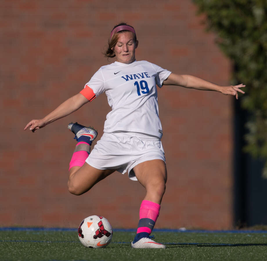 Emily DeNunzio is a four-season starter and standout. Courtesy Darien Athletic Foundation / (c)Mark Maybell