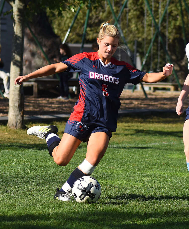 GFA's Ella Murphy, a resident of Darien, scored her team's lone goal in a road loss to The Gunnery.