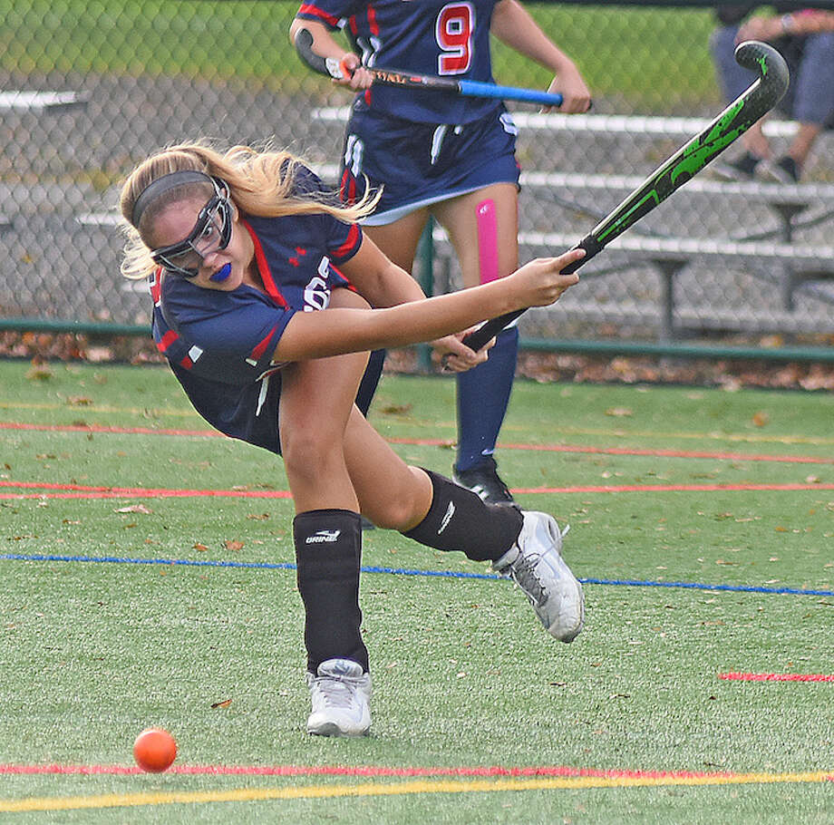 GFA's Francesca DeVita, a resident of Darien, throws the ball into the circle during a game last week against Holy Child.