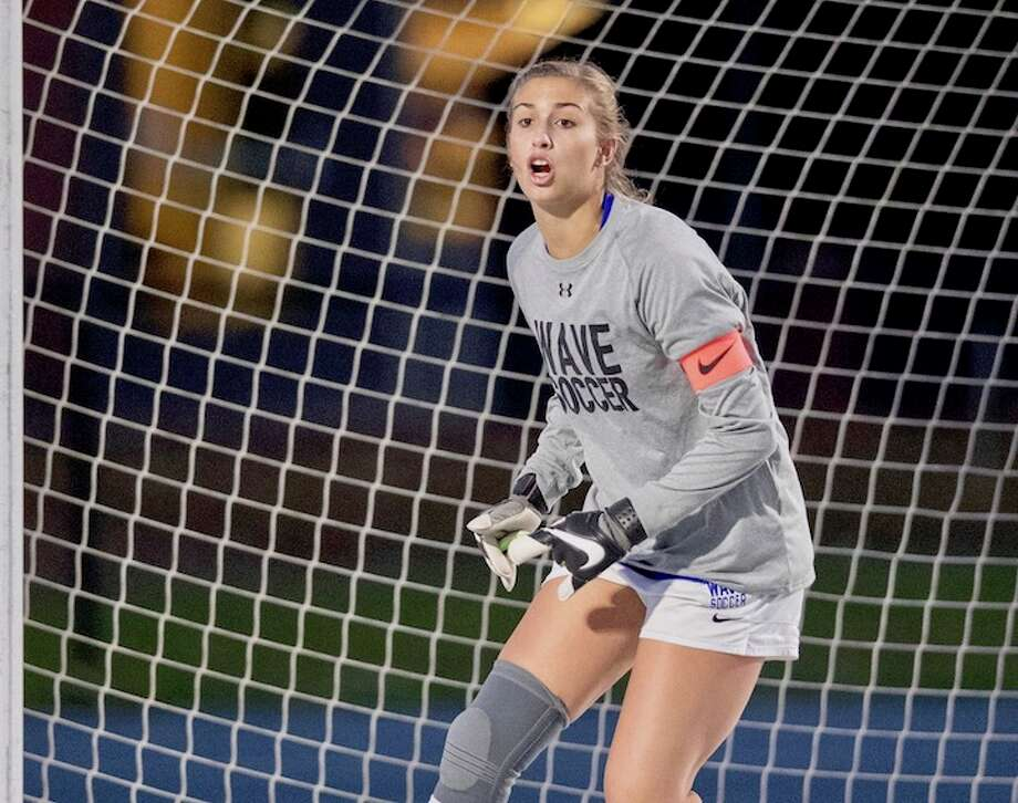 Christine Fiore has 10 shutouts on the season and has let in just over a half dozen goals. Courtesy Darien Athletic Foundation / (c)Mark Maybell