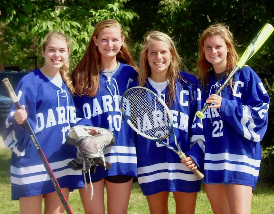 Wave captains (from left) are Elise Maro, Corinne Bevill, Kiki Tropsa, Sally Cassidy .