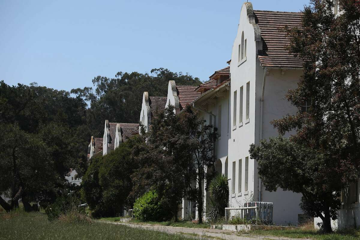 Former military barracks and office buildings on Ralston Avenue are seen on Monday, June 17, 2019 in San Francisco, Calif.