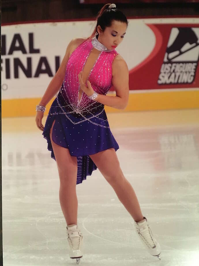 Caitlin Chan dressed to kill it at nationals.