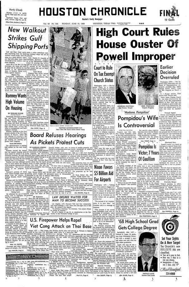 June 16, 1969 Photo: Houston Chronicle