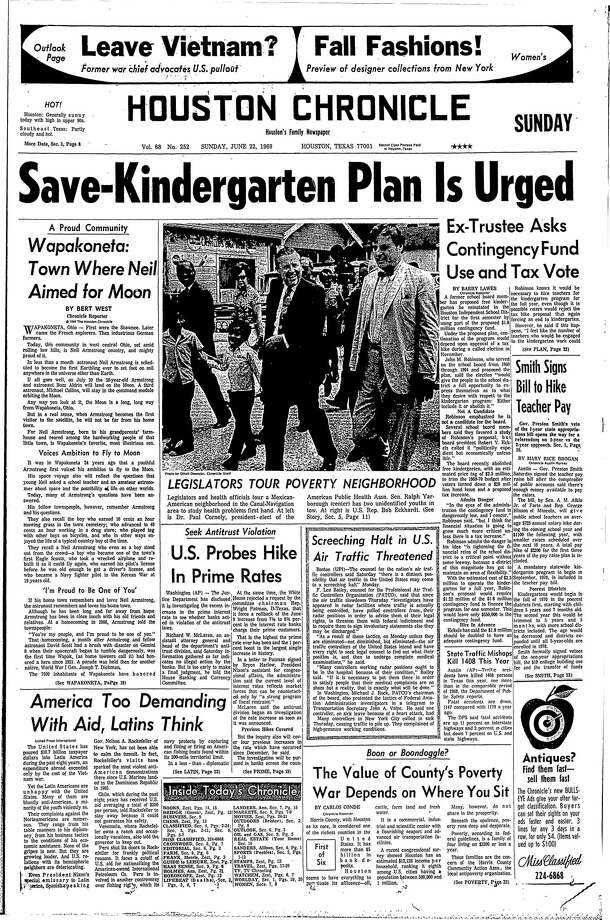 June 22, 1969 Photo: Houston Chronicle