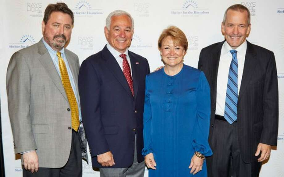 Pacific House Board Chair Peter Rugen, Bobby Valentine and Diane and Jim Bosek of Darien.