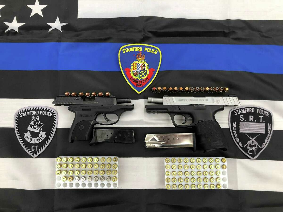 Guns and ammunition seized from a Southwood Drive residence on June 19, 2019 in Stamford.