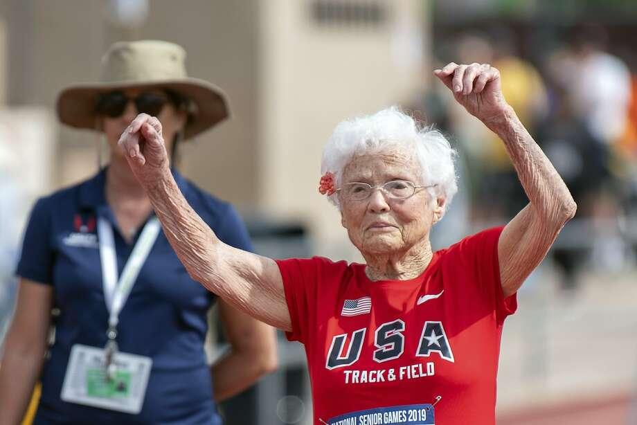 At 103, 'Hurricane' Hawkins takes titles at US Senior Games