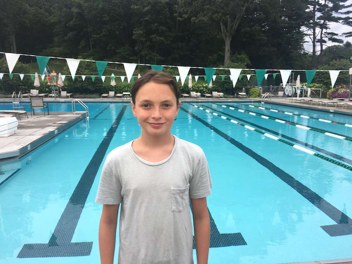 FASTEST IN 50 YEARS - Woodway's Jack Morningstar won the 50-meter butterfly and 100 IM in the town race's best times ever.
