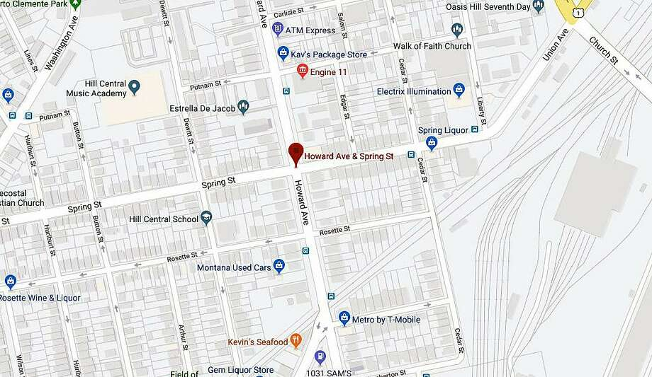 A Google Maps screenshot, showing the intersection of Howard Avenue and Spring Street in New Haven, Conn. Photo: Contributed Photo