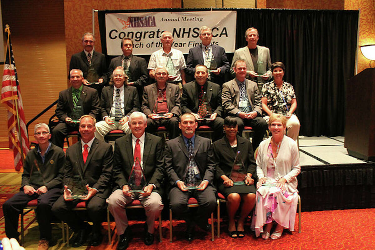 LaRusso (bottom left) assembled with her fellow award recipients.
