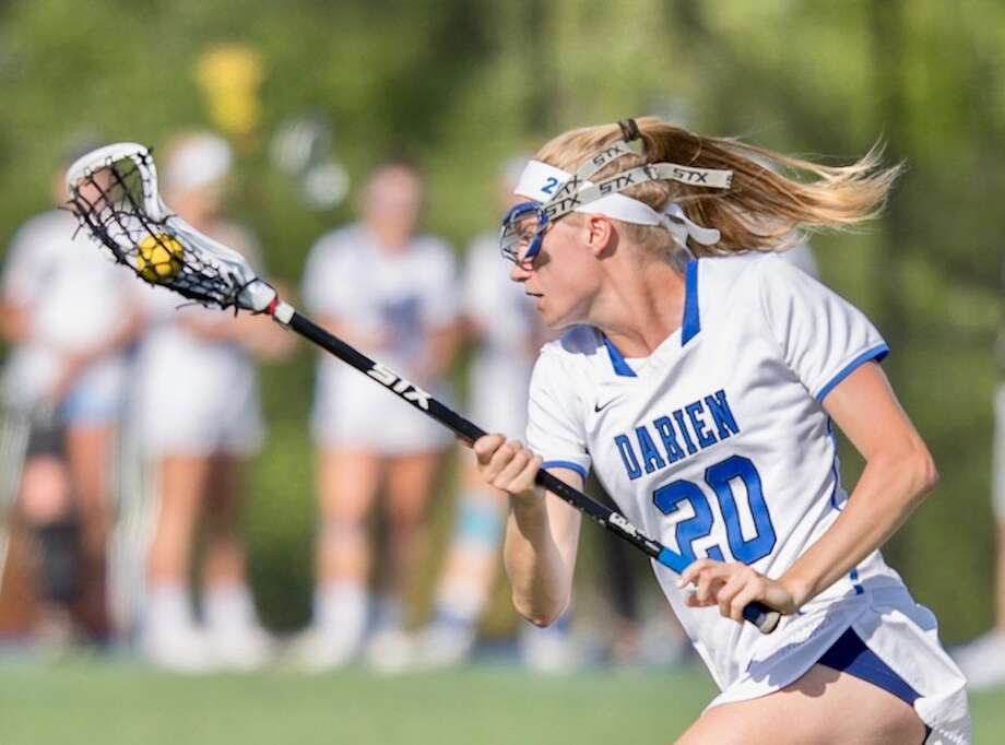 X-WOMAN — Junior Katie Ramsay took the draw, and just kept taking it. Courtesy Darien Athletic Foundation / (c)Mark Maybell