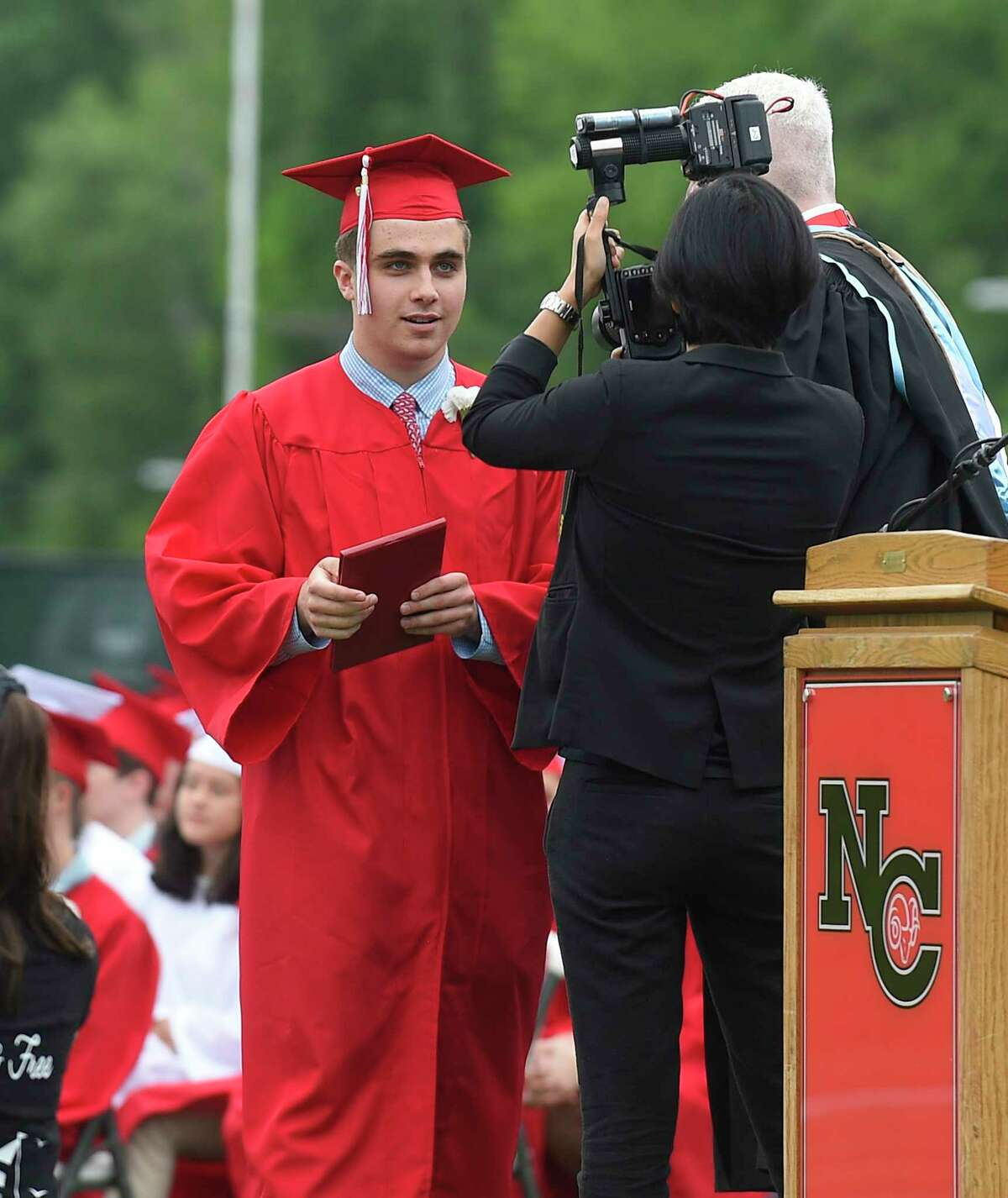 New Canaan High School Class of 2019 commencement exercises on June 19, 2019 in New Canaan, Connecticut.