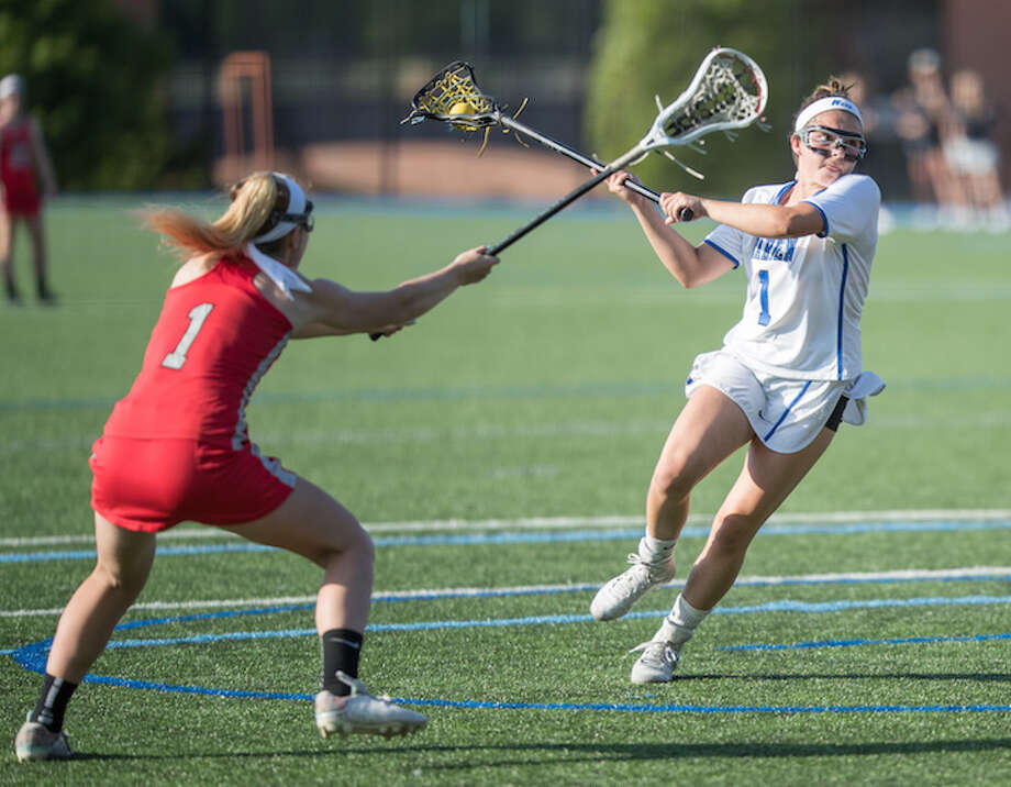 Sophomore Nicole Humphrey leads Darien in scoring against Conard on Thursday. Courtesy Darien Athletic Foundation / (c)Mark Maybell