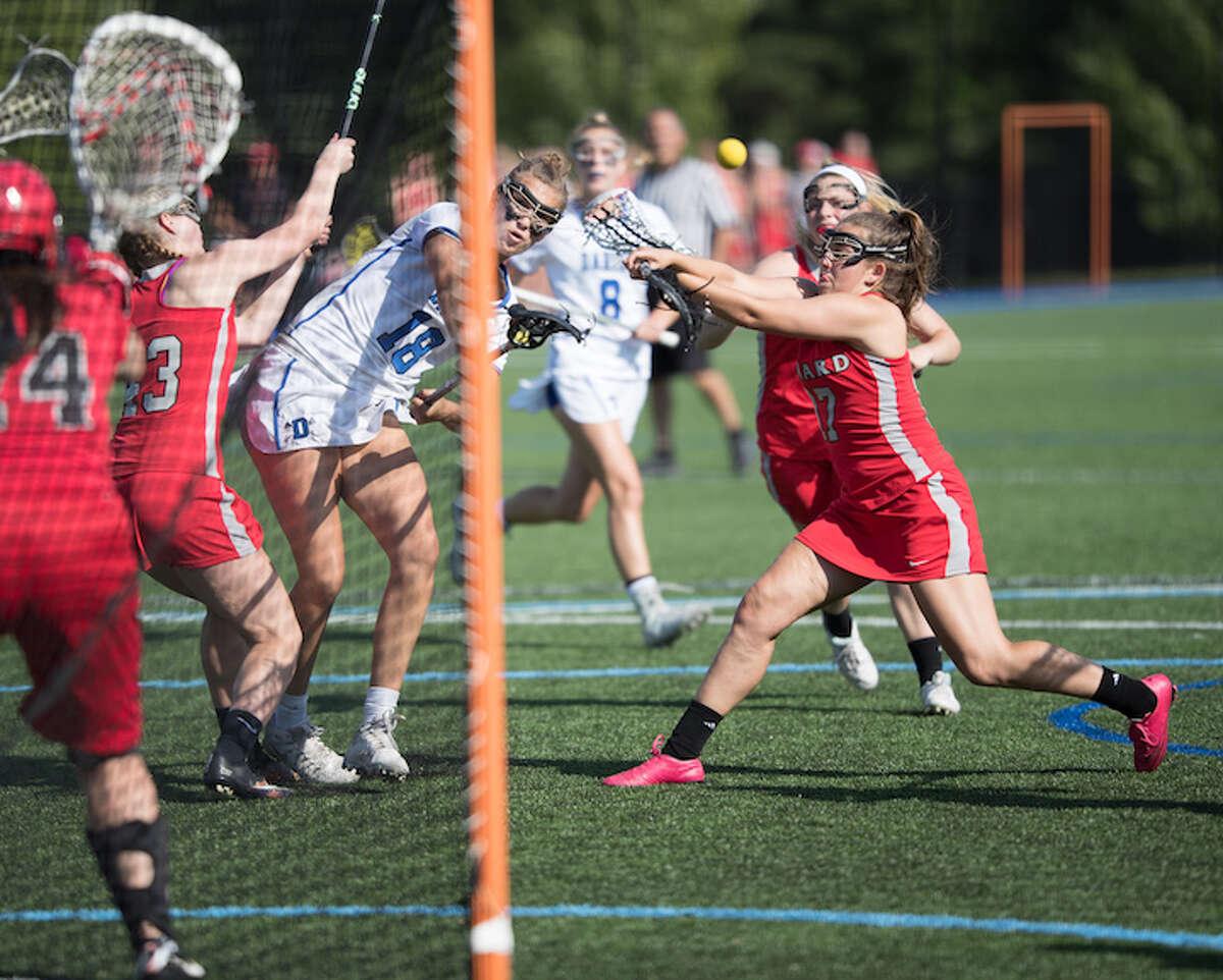 Christine Fiore fires in tight. Courtesy Darien Athletic Foundation