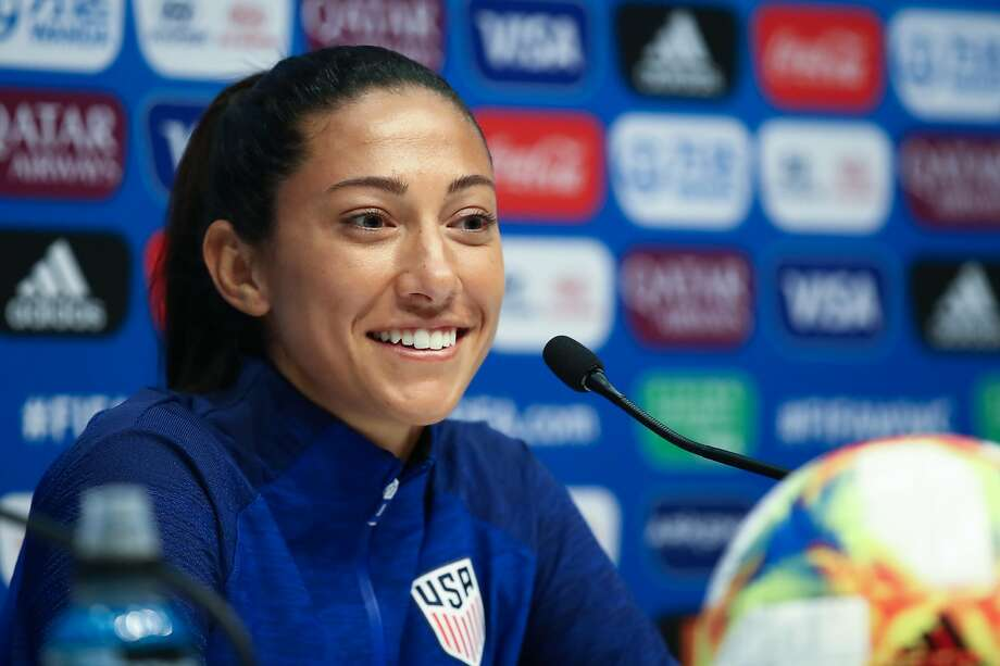 Christen Press is playing in her second World Cup. Photo: Alex Grimm / Getty Images