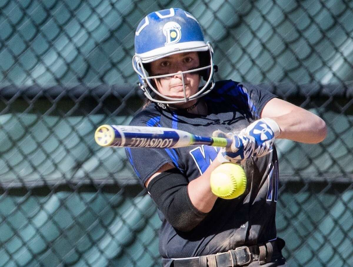 Senior Cassidy Schiff hit the homer to win it in the seventh. Courtesy Darien Athletic Foundation