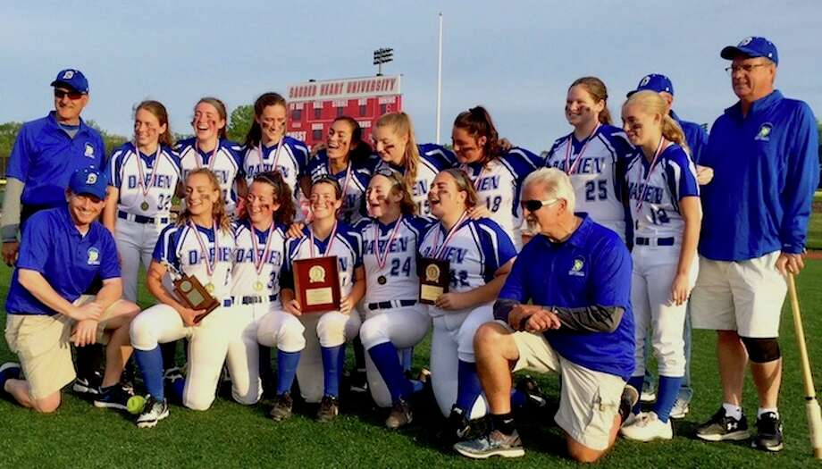 HAPPY RETURN — Darien wins the FCIAC Championship at Sacred Heart on Wednesday.