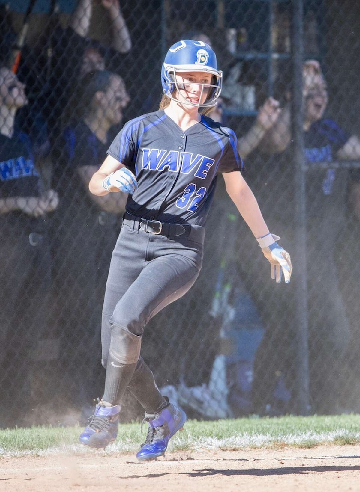 Hailey King had a big day going 4-for-4 to lead the game. Courtesy Darien Athletic Foundation
