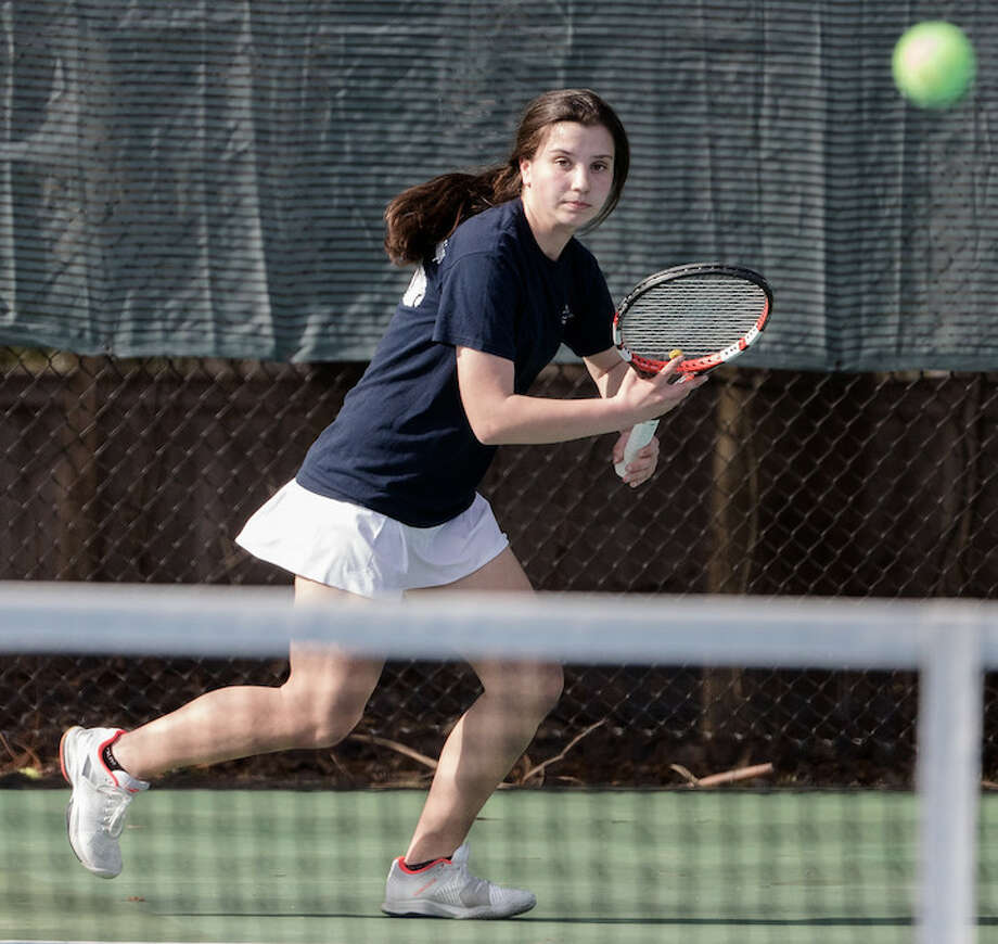 Senior Kateri Martin is undefeated, like the Wave. Courtesy Darien Athletic Foundation / (c)Mark Maybell