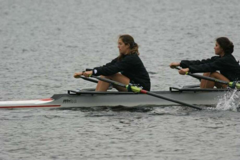 Above, Rachel Upton, front, graduated from Staples in June and is leading the New Canaan Rowing Club to success. Upton will be rowing for Division I University of California at Berkeley. Photo: Contributed Photo