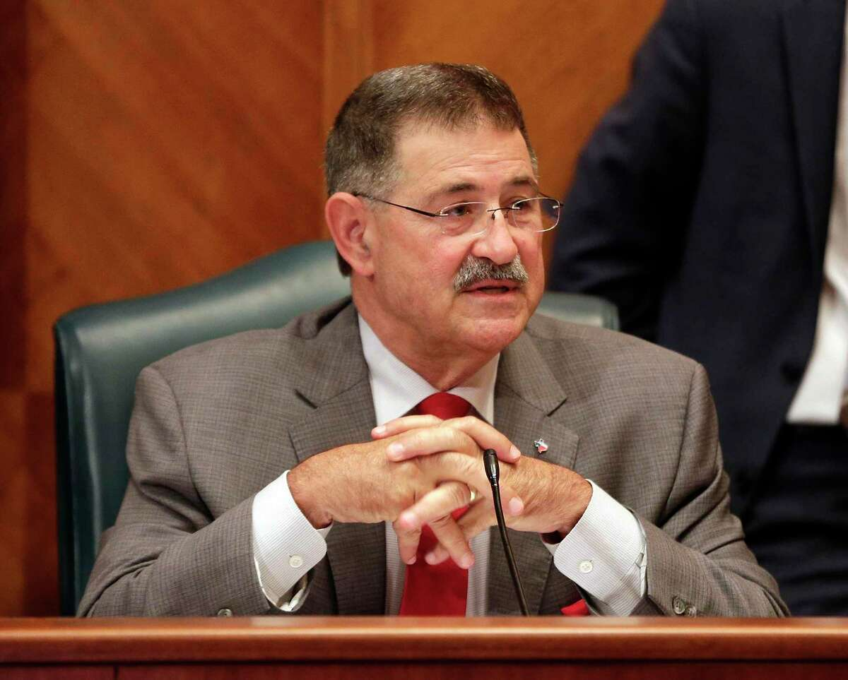 Mike Knox, Position 1 city council member at large, during a Houston City Council meeting Wednesday, Jun. 5, 2019 at City Hall in Houston, TX.