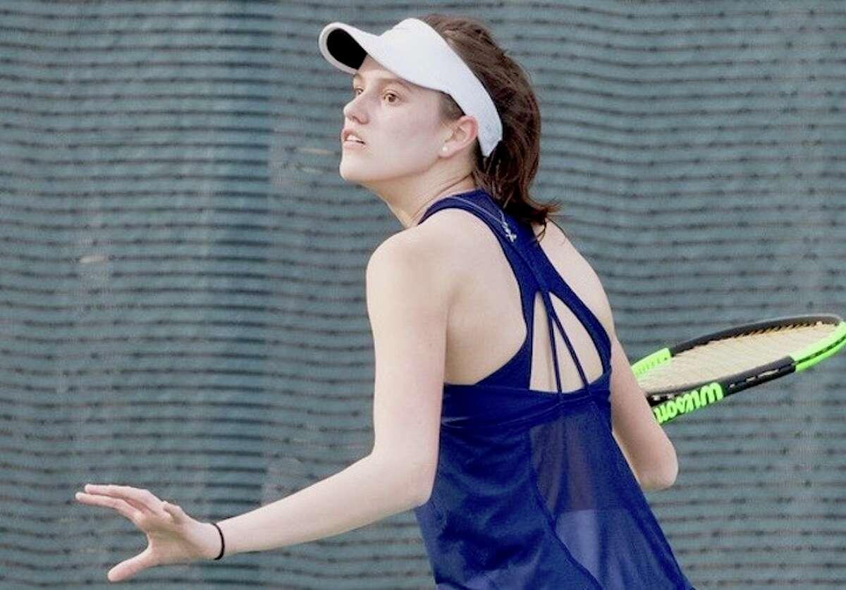 Emilia Callery wins at No. 2. Courtesy Darien Athletic Foundation