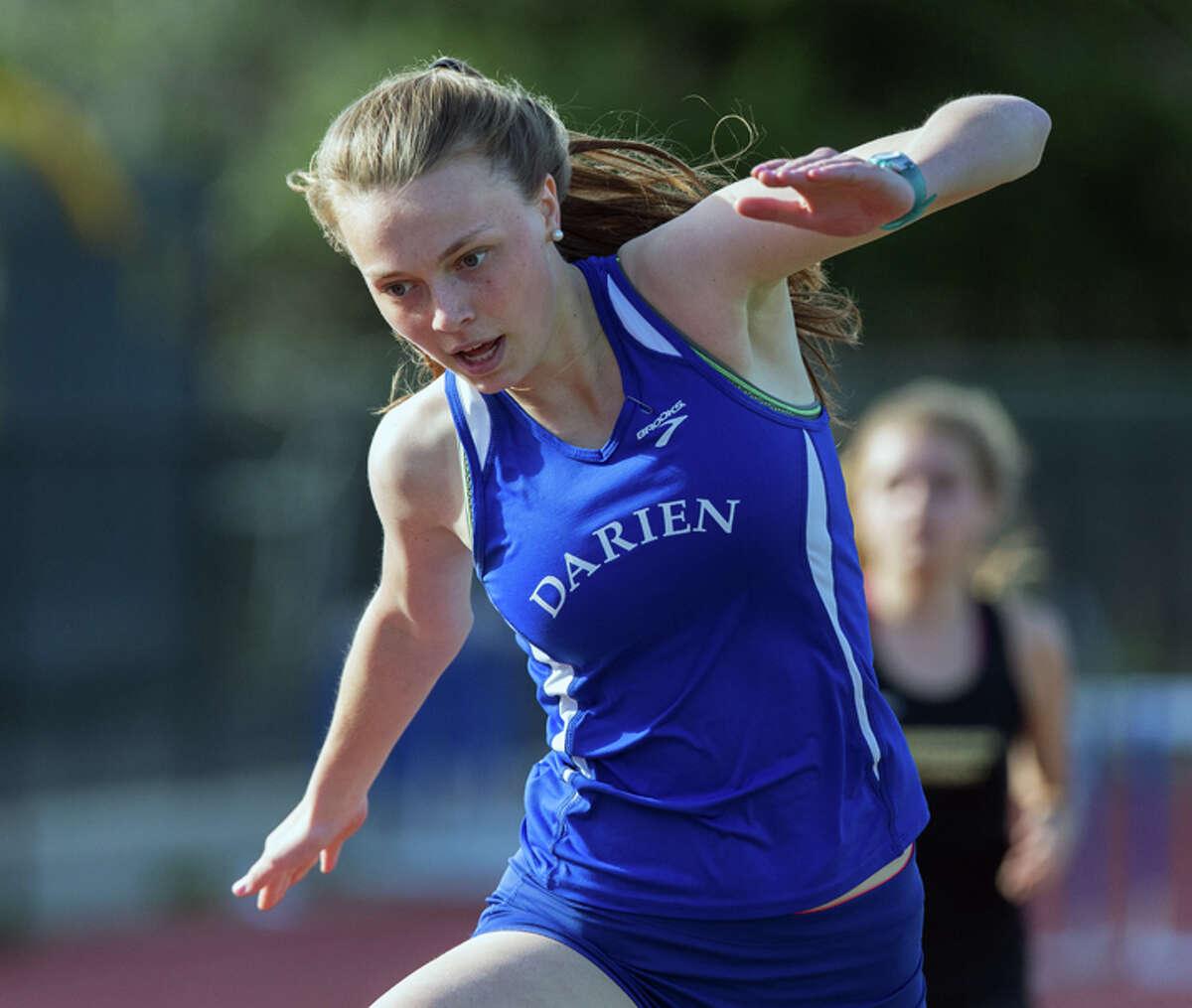 Versatile, durable, three-sport varsity athlete Maggie Skeats helps to captain the Wave. Courtesy Darien Athletic Foundation