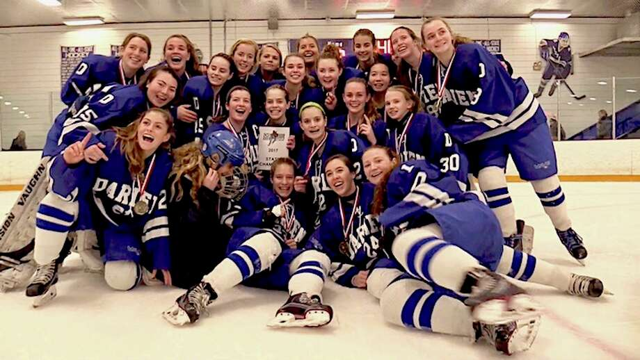 State Champion, repeat champion, Wave Hockey marks the unique moment at Bennett Rink on Saturday.