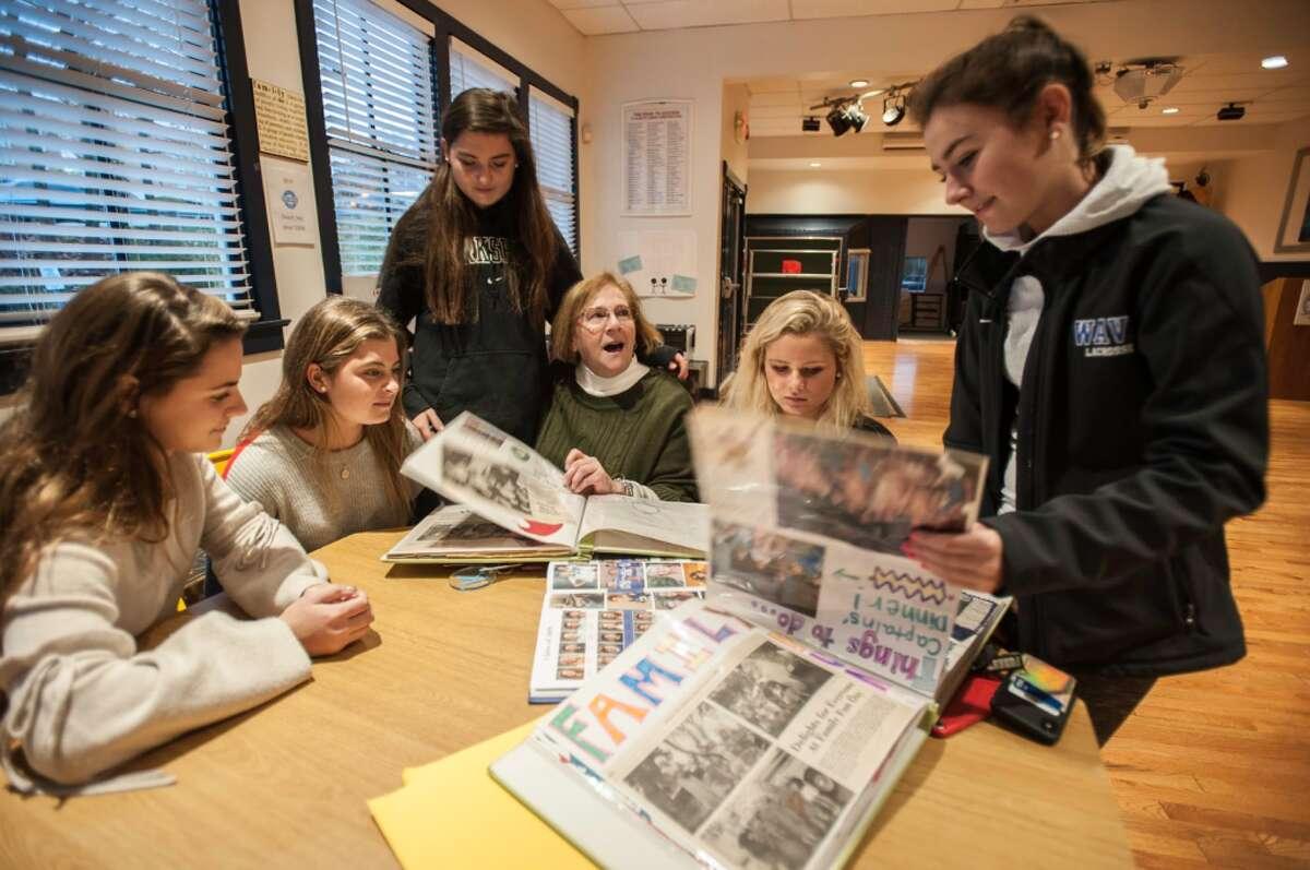 Annie Arrix, Emma Cavoli, Mason Maloney, Kaitlyn Olvany, and Sophia Bremer with Depot Program Director Janice Marzano - Laureen Vellante photo