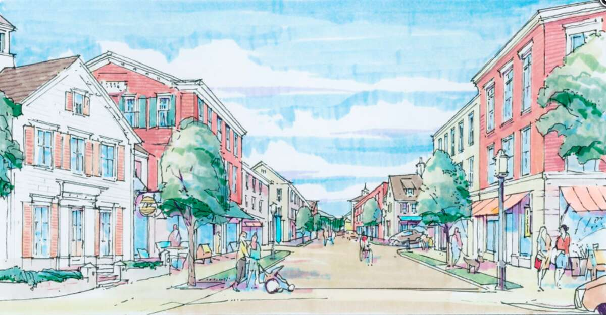A rendering of the planned Baywater downtown redevelopment.