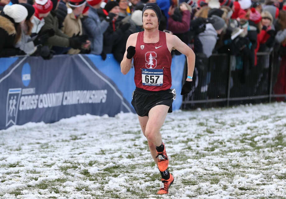 Darien's Alex Ostberg, a senior at Stanford University, runs to a 13th-place finish at the NCAA Div. I cross country championships on Nov. 17. — Contributed photo