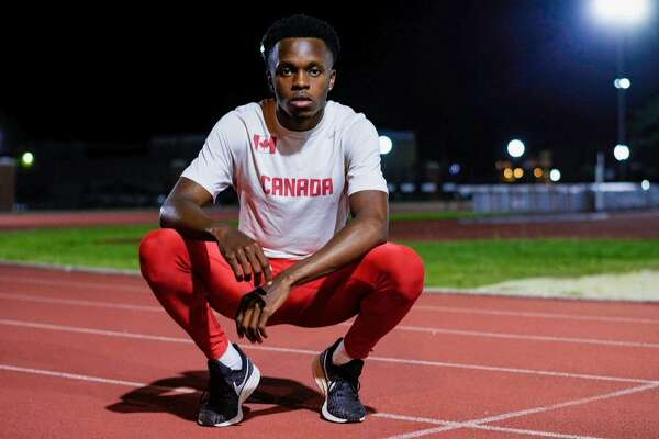 Former Lamar University triple jumper Brian Obonna poses for a picture. Photo taken by Tylen Guidry and provided by Brian Obonna.
