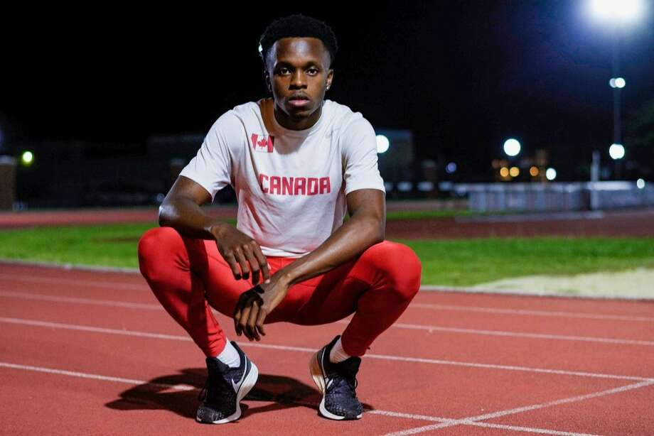 Former Lamar University triple jumper Brian Obonna poses for a picture. Photo taken by Tylen Guidry and provided by Brian Obonna. Photo: Tylen Guidry