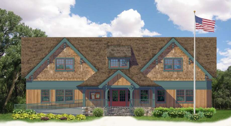A rendering of the expanded Darien Boy Scout cabin proposed on West Avenue.