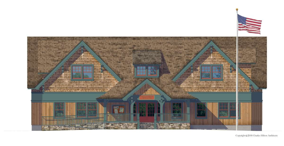 A rendering of the newly proposed Darien Boy Scout cabin