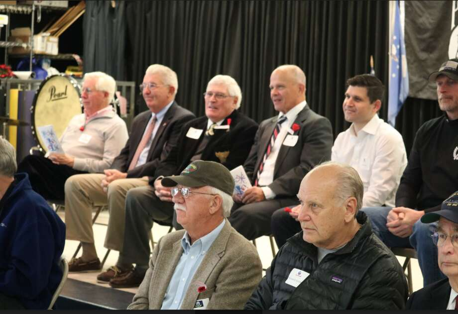 Veterans participated in Ox Ridge School's recent Veterans Day ceremony — Ox Ridge School invited The Darien Times to participate.