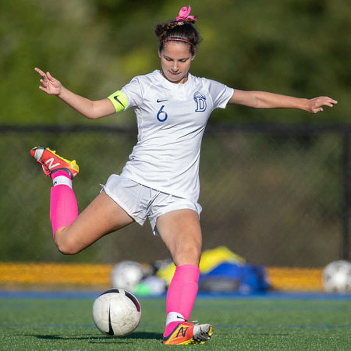 Darien's Elianna Dolan scored the game's first goal during the Wave's 2-0 win over Staples in the FCIAC quarterfinals on Thursday, Oct. 25. - Darien Athletic Foundation photo