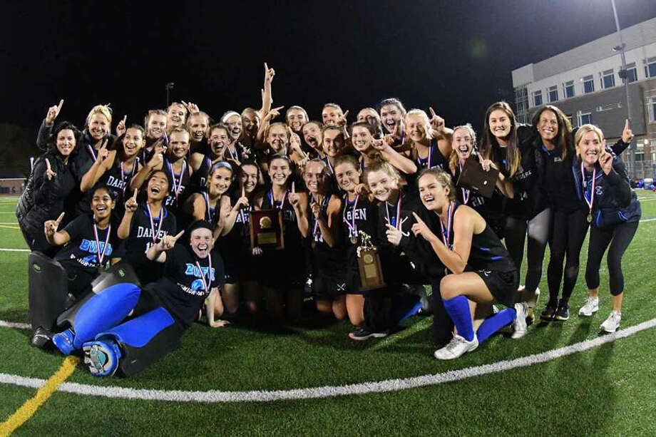 The 2018 FCIAC field hockey champions Darien Blue Wave. — Gregory Vasil/Hearst Connecticut Media photo