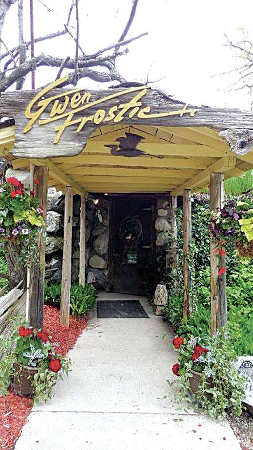Pictured is the entrance to the studio (and museum) of famous nature artist Gwen Frostic near Benzonia. Photo: Tom Lounsbury/Hearst Michigan