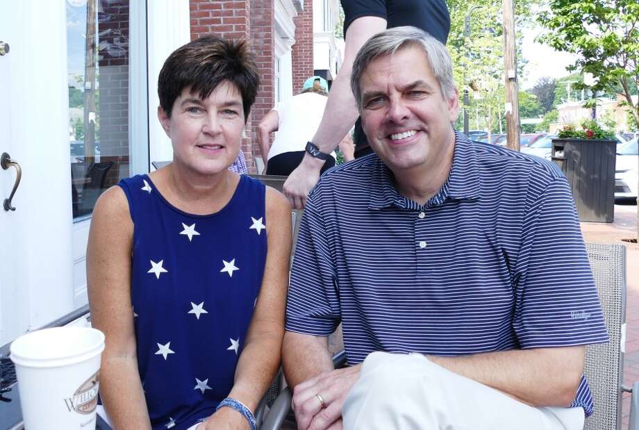 Republican candidate Bob Stefanowski will be joined by his wife Amy will be at event on Saturday in Darien at Grove Street Plaza at 10 a.m. . — Grace Duffield photo
