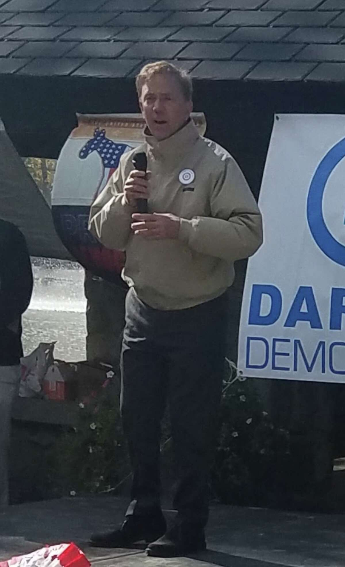 Ned Lamont, the Democratic candidate running for governor, at last Sunday's rally.