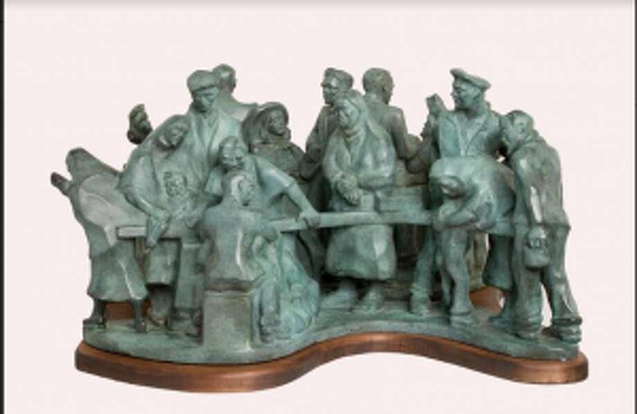 Breadline is one of Margaret Brassler Kane's sculptures at the Darien Historical Society